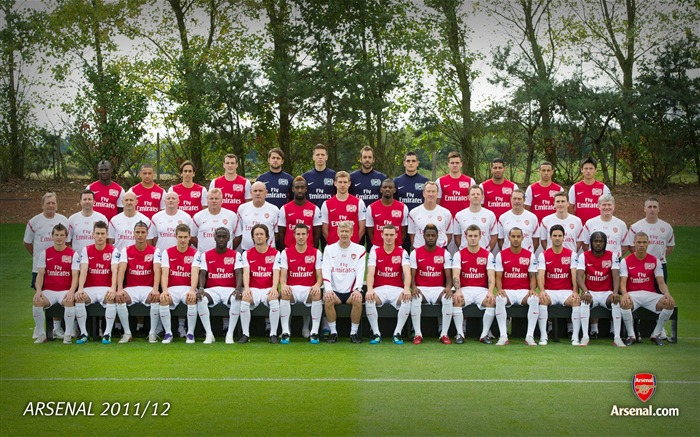 First team family-Arsenal 2011-12 season Desktop wallpaper Views:5963