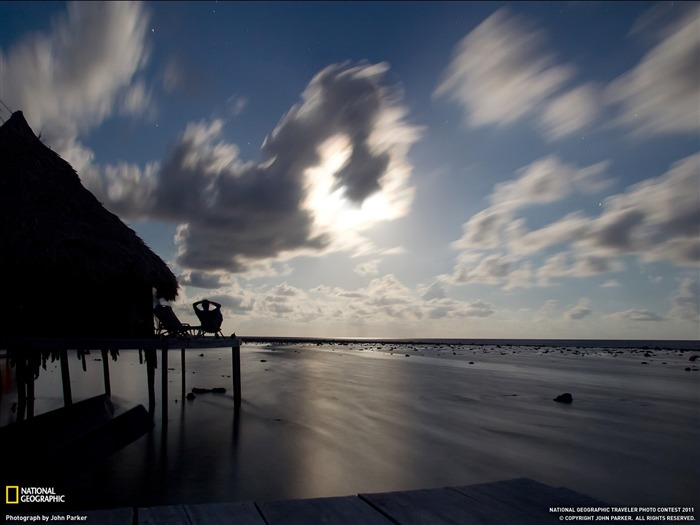 Moonrise Caribbean Sea-National Geographic Travel Photos Views:3003