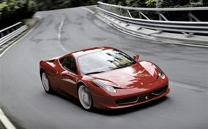 Top sports car The Ferrari 458 Italia Desktop wallpaper Views:7807