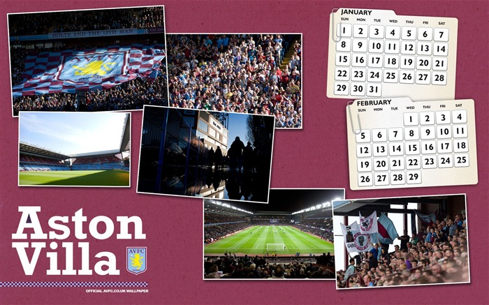 Villa calendar 2012-Aston Villa football club HD desktop wallpaper Views:3595