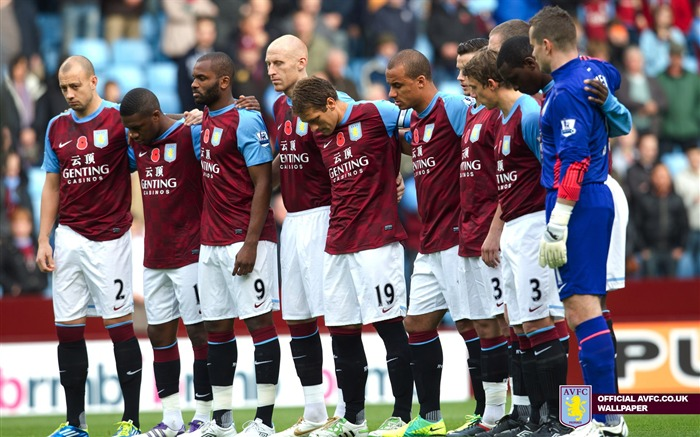 Villa stars remember the fallen-Aston Villa football club HD desktop wallpaper Views:4108