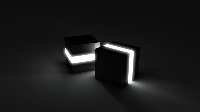 黑色立方体-3d创意设计主题桌面图片 壁纸预览