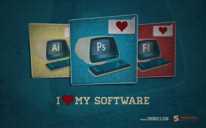 i love my software-March 2012 calendar desktop themes wallpaper Views:4110