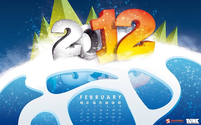 February 2012 calendar desktop themes wallpaper Views:8412