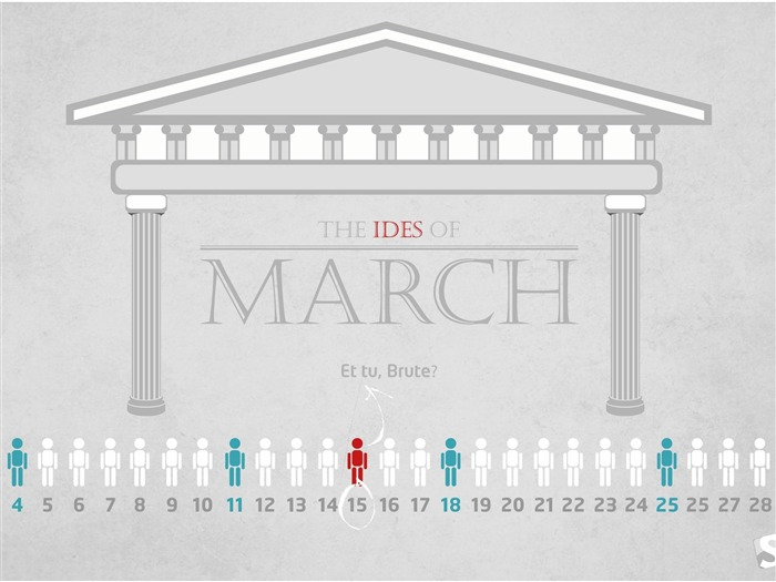 ides-March 2012 calendar desktop themes wallpaper Views:4597