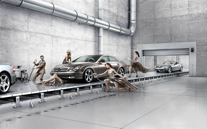 mercedes benz assembly line-Photoshop Creative Design picture Views:7710
