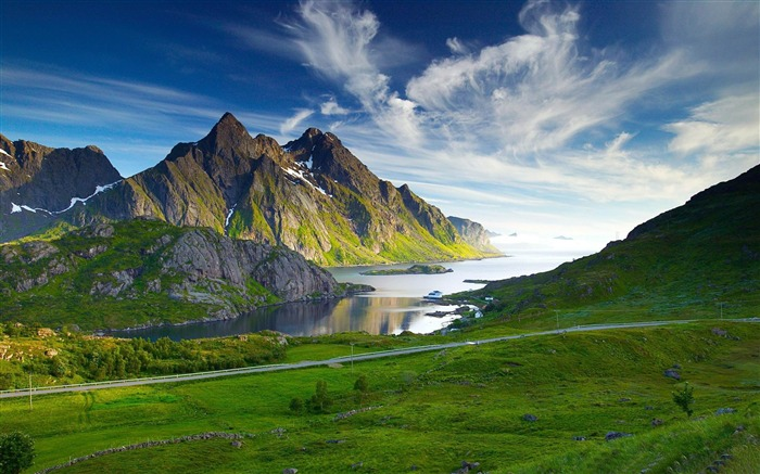 nordic landscape-Beautiful mountain scenery picture Views:134496
