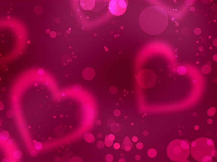 pink Love such as air-Happy Valentines Day theme desktop wallpaper Views:7314