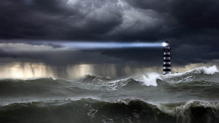 sea storm-PS creative theme design pictures Views:37334