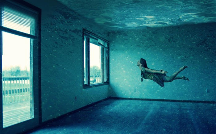 underwater room-PS creative theme design pictures Views:15550