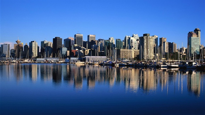 vancouver skyline-Canada travel landscape photography wallpaper Views:17623