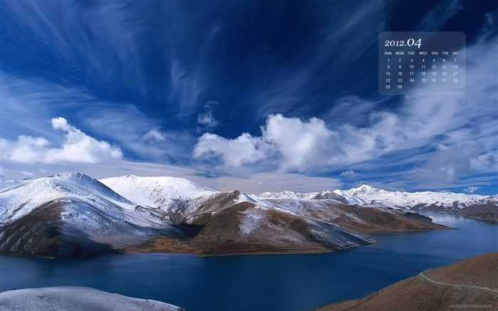 3D Mountain-April 2012 calendar themes wallpaper Views:4928