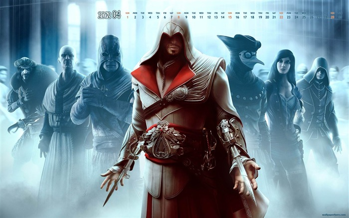 Assassin Creed-April 2012 calendar themes wallpaper Views:5140
