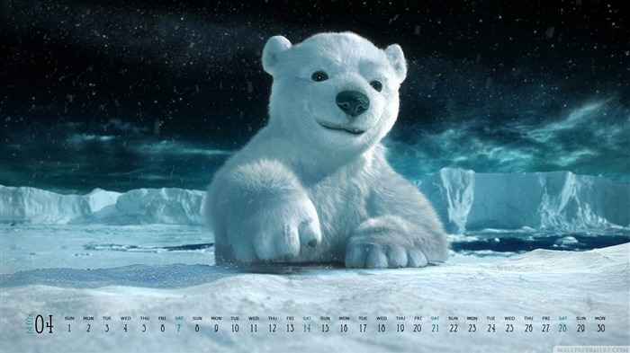 Bear-April 2012 calendar themes wallpaper Views:4827