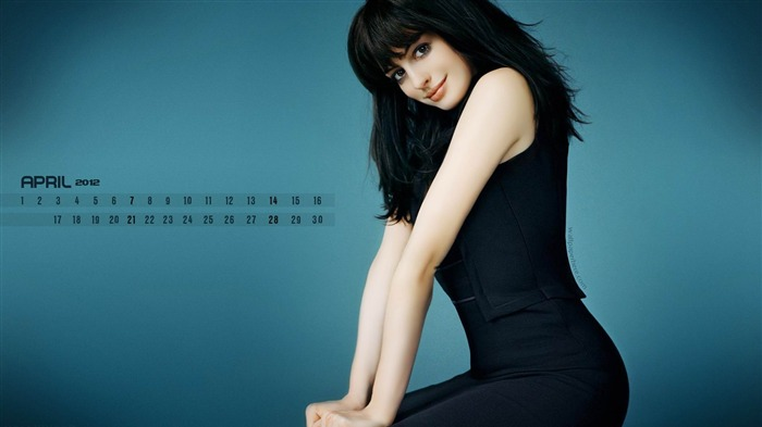 Beautiful Girl-April 2012 calendar themes wallpaper Views:6270