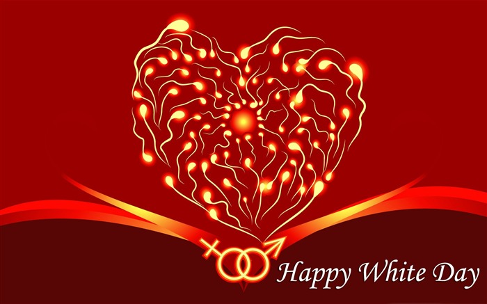 Happy White Day theme Desktop wallpaper Views:9935