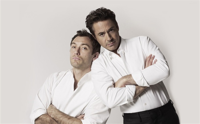 Jude Law and Robert Downey Jr-Global Male celebrity Photo Wallpaper Views:8463