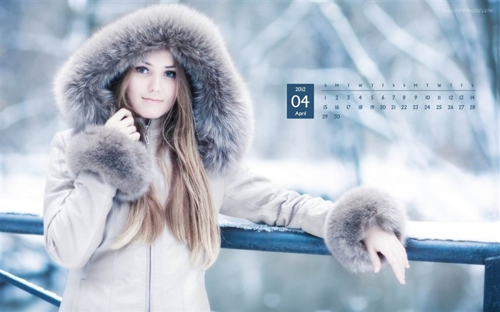Lovely Girl-April 2012 calendar themes wallpaper Views:2955