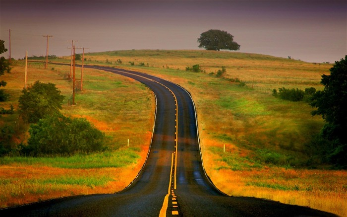 curved road-The magnificent natural scenery wallpaper Views:9219