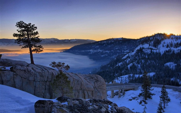 donner lake in california-The magnificent natural scenery wallpaper Views:4393