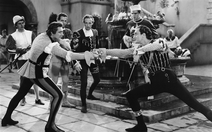 fencing duel old movie-Vintage style series wallpaper Views:6672