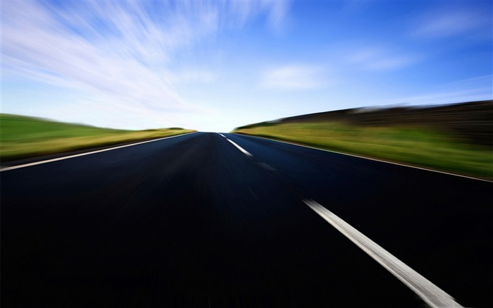 high speed in the road-beautiful natural landscape wallpaper Views:5727
