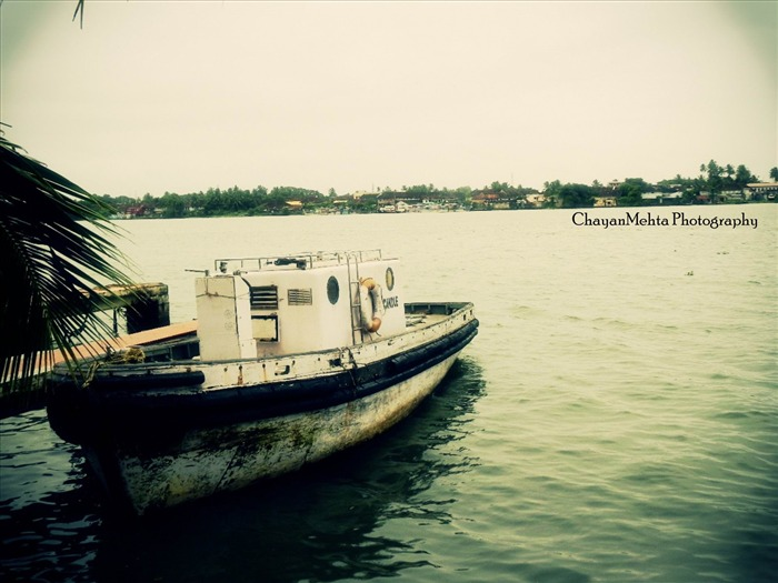 kochi boat-Vintage style series wallpaper Views:5727