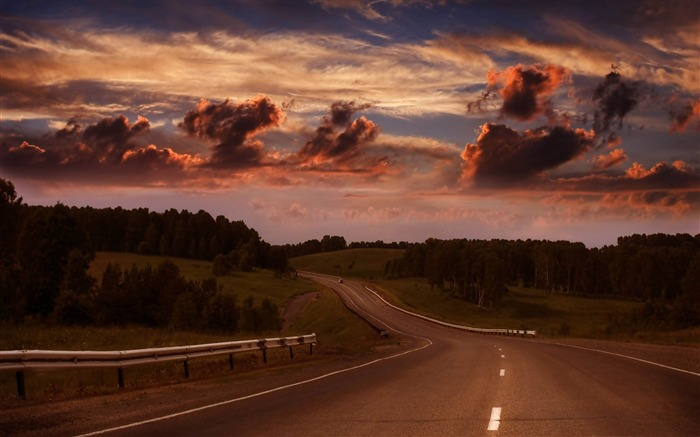 long road-The magnificent natural scenery wallpaper Views:5918