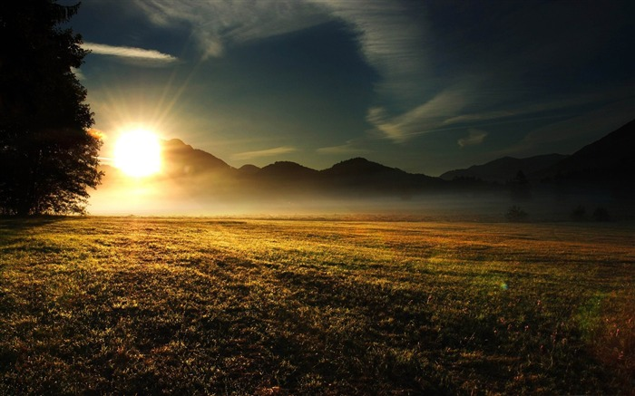 sundown-The magnificent natural scenery wallpaper Views:12174