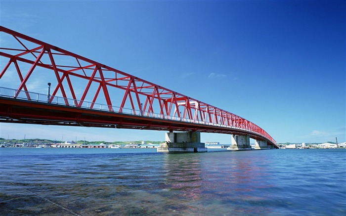Beautiful Red Bridge-Urban landscape photography Views:4611