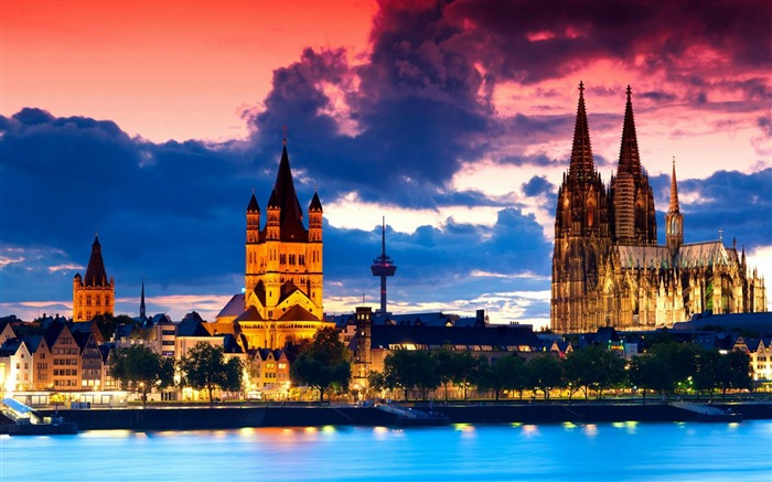 Cologne Cathedral Germany-city architecture wallpaper Views:13476