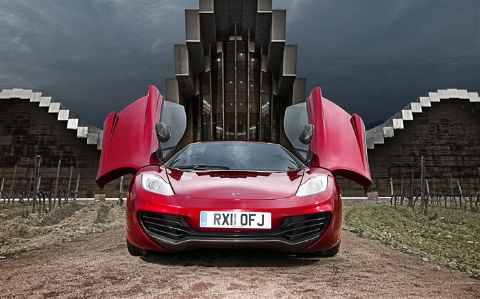 McLaren MP4-12C Wine Red Auto HD Wallpapers Views:10812