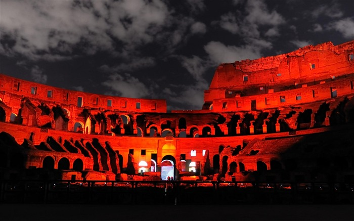Red Rome the Colosseum-city architecture wallpaper Views:8152