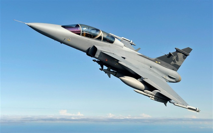 Saab JAS 39 Gripen-Military aircraft HD wallpaper Views:11134