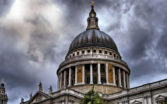 St Pauls Cathedral in London-city architecture wallpaper Views:4244