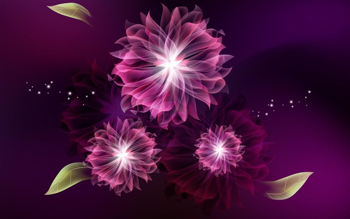 abstract flowers-Abstract art design wallpaper Views:6159