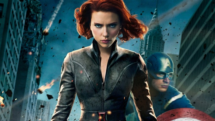 black widow in-The Avengers 2012 HD Wallpapers Views:7330