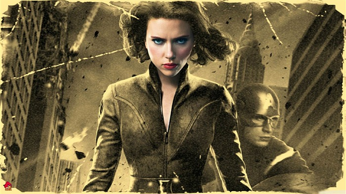 black widow in -The Avengers 2012 HD Wallpapers Views:4453