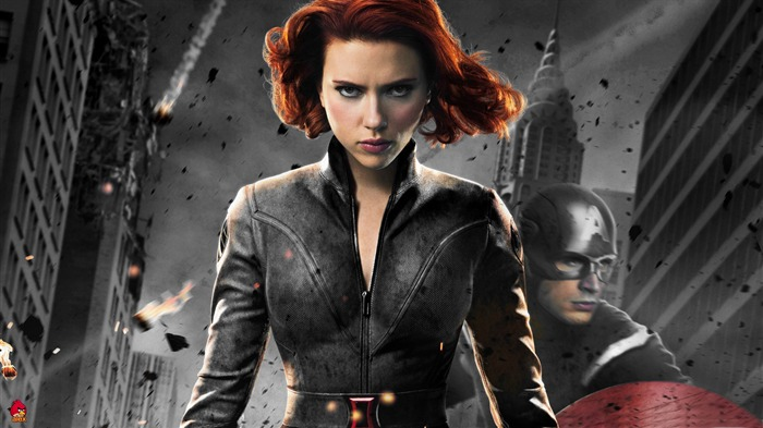 black widow in 1-The Avengers 2012 HD Wallpapers Views:6590