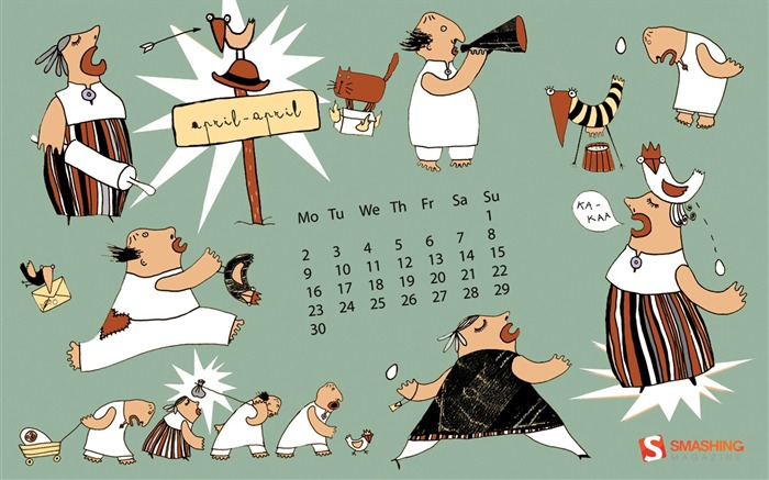 busy-April 2012 calendar themes wallpaper Views:4593
