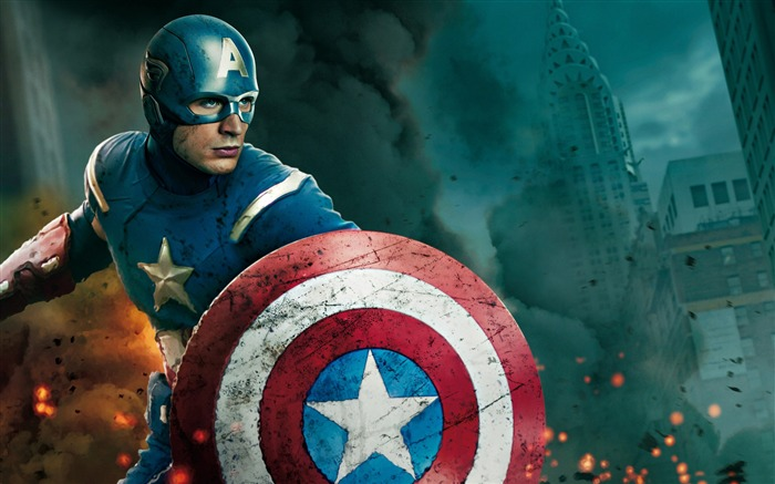 captain america and thor-The Avengers 2012 HD Wallpapers Views:12071