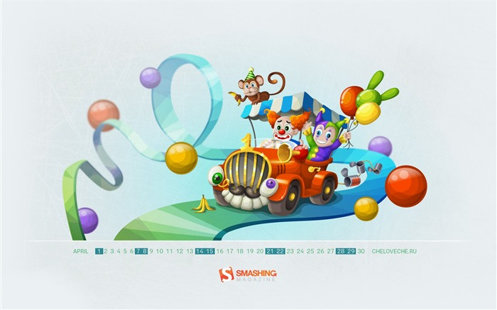 circus-April 2012 calendar themes wallpaper Views:5394