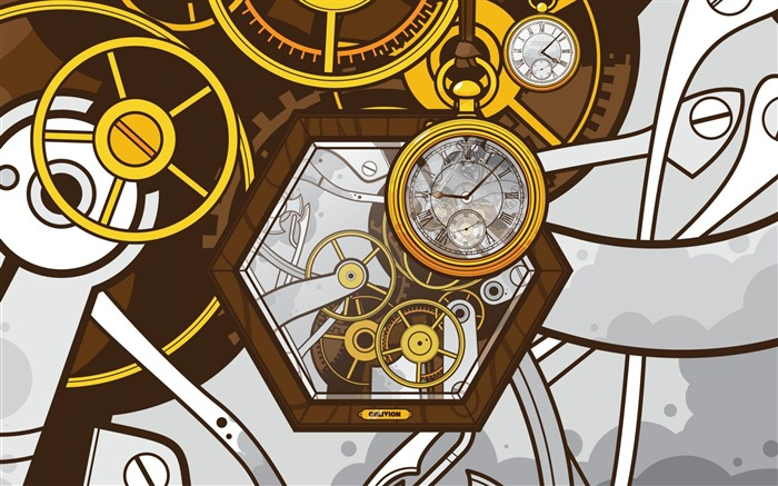 clocks-Abstract art design wallpaper Views:6952