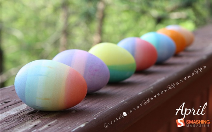 dyed eggs-April 2012 calendar themes wallpaper Views:4369