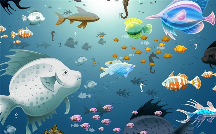 fish-Abstract art design wallpaper Views:6711
