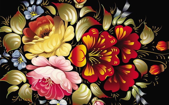 flowers-Abstract art design wallpaper Views:9832