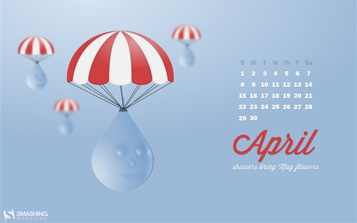 graceful descent-April 2012 calendar themes wallpaper Views:4533