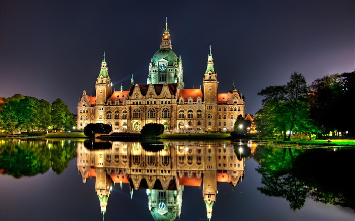 hanover town hall Germany-city architecture wallpaper Views:7762