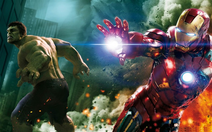 hulk and ironman-The Avengers 2012 HD Wallpapers Views:19130
