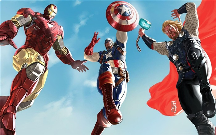 iron man captain america and thor-The Avengers 2012 HD Wallpapers Views:13570